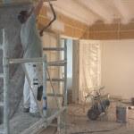 spuitwerk balken plafond